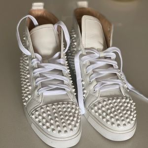 Christian Louboutin Mens spike sneakers (white)